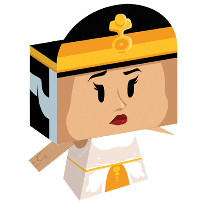 paper toy cleopatre
