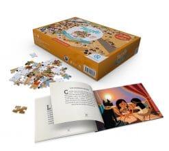 puzzle et livre egyptien