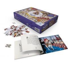 puzzle et livre romains